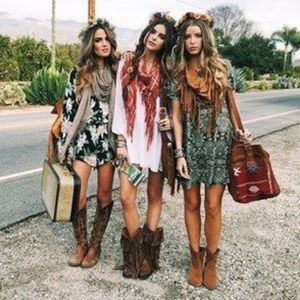 Distressed boots
